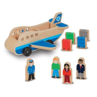 Melissa and Doug Wooden Airplane Play Set