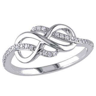 1/8 Carat T.W. 10k White Gold Infinity Ring