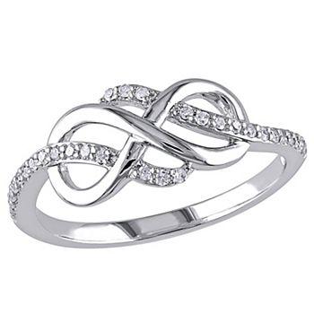 Stella Grace 1/8 Carat T.W. 10k White Gold Infinity Ring