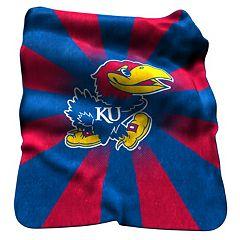 Logo Brand Kansas Jayhawks Raschel Throw Blanket