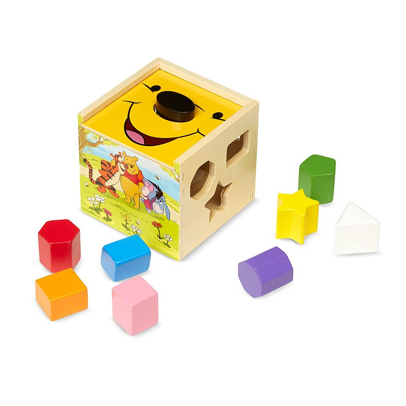 Disney Winnie the Pooh & Friends 10-pc. Shape Shorting Cube by Melissa & Doug ()
