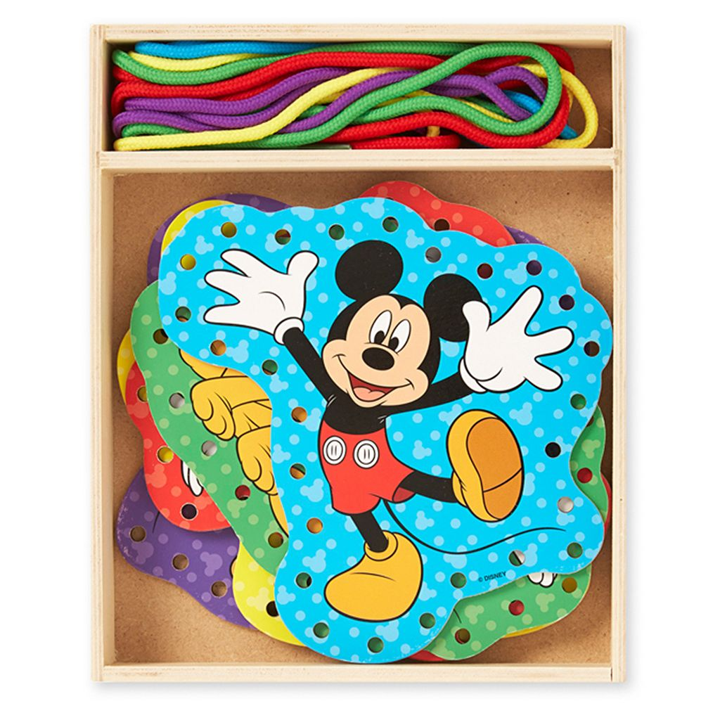 Disney Mickey Mouse Clubhouse Wooden Lacing Cards by Melissa & Doug