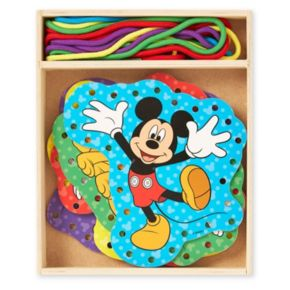 Disney Mickey Mouse Clubhouse Wooden Lacing Cards by Melissa and Doug