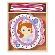 Disney Sofia the First Wooden Lacing Cards by Melissa & Doug