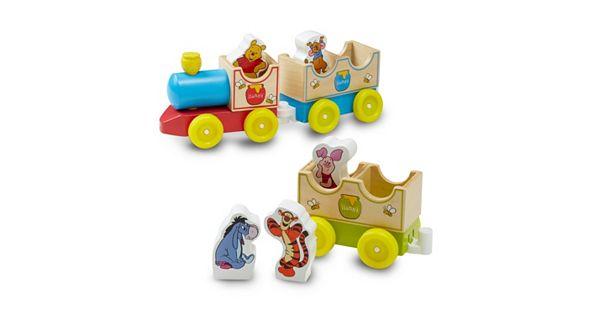 Disney Winnie The Pooh All Aboard Wooden Train By Melissa