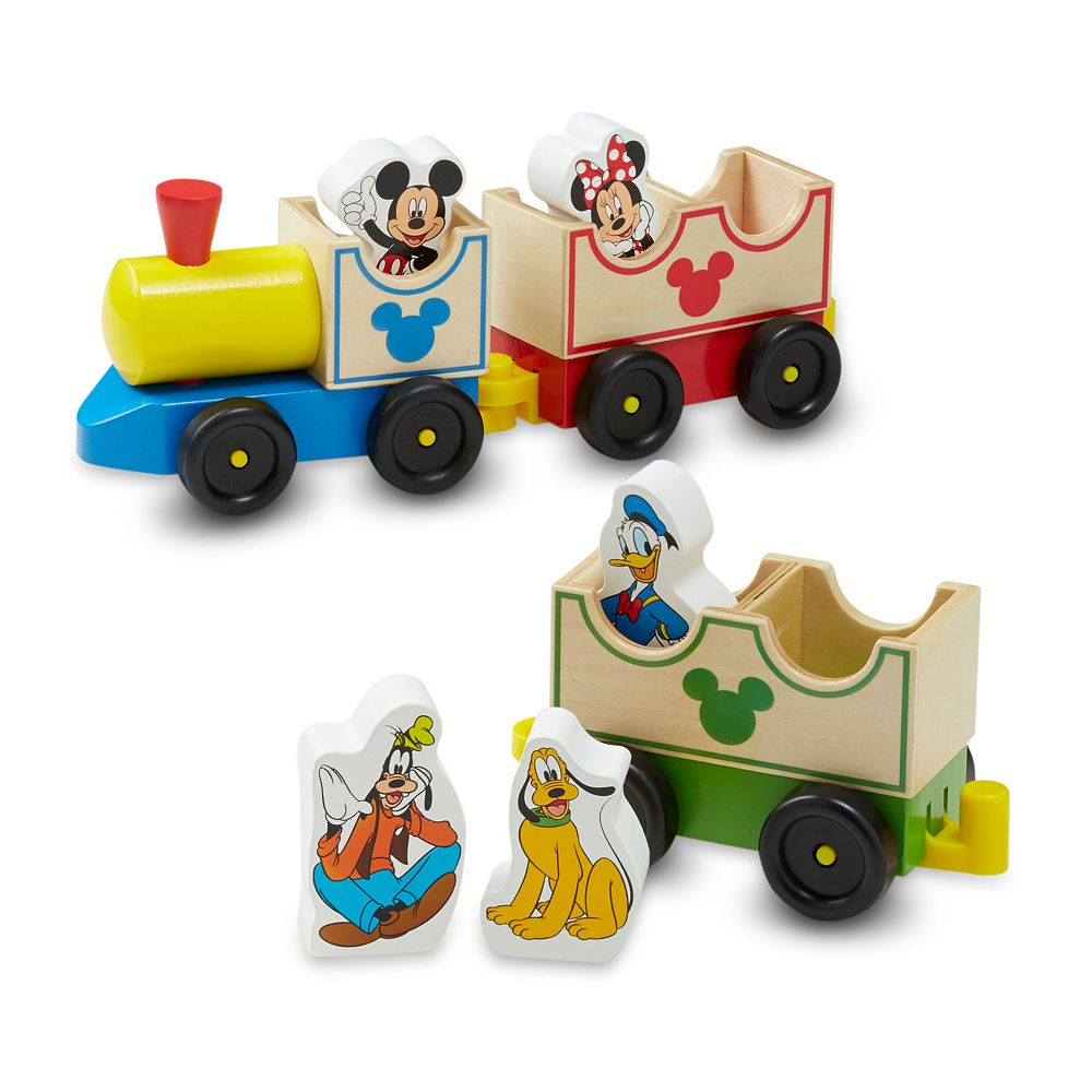 Mickey Mouse & Friends All Aboard Wooden Train by Melissa & Doug