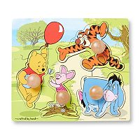 Disney Winnie the Pooh & Friends Wooden Knob Puzzle by Melissa & Doug