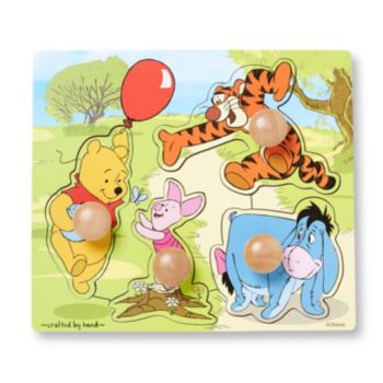 Disney Winnie the Pooh and Friends Wooden Knob Puzzle by Melissa and Doug