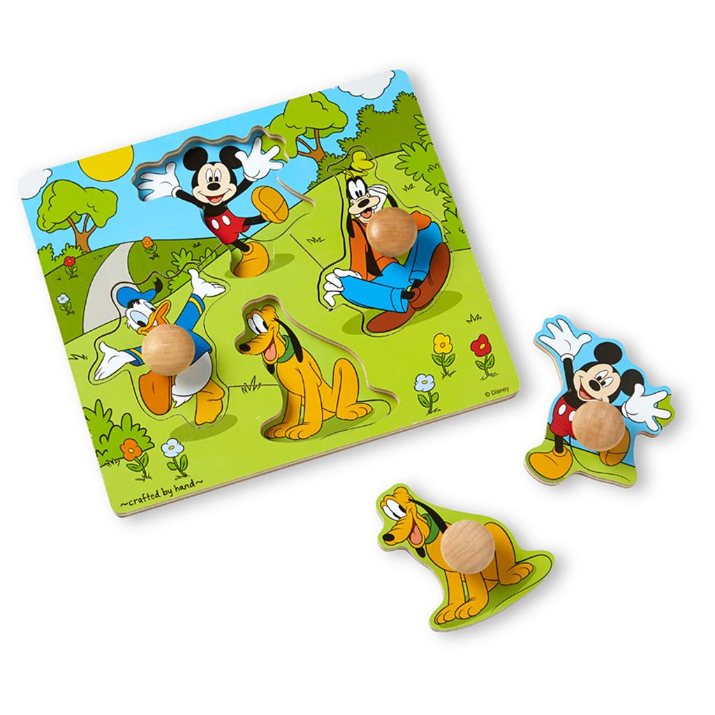 Disney Mickey Mouse and Friends Wooden Knob Puzzle by Melissa and Doug
