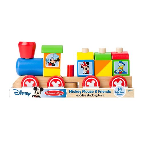 Disney Mickey Mouse Friends Wooden Stacking Train By Melissa Doug