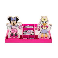 Disney Mickey Mouse & Friends Minnie & Daisy Wooden Magnetic Dress-Up Doll by Melissa & Doug