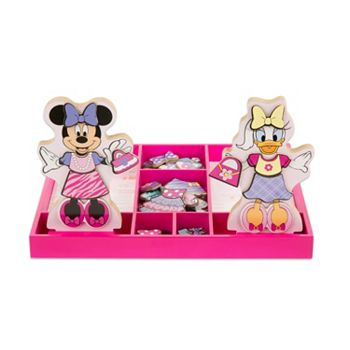 Disney Mickey Mouse Friends Minnie Daisy Wooden Magnetic Dress Up Doll By Melissa Doug