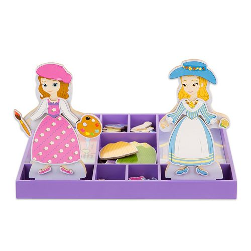 Disney Sofia the First & Princess Amber Wooden Magnetic Dress-Up Dolls by Melissa & Doug