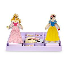 Disney Princess Aurora & Snow White Wooden Magnetic Dress-Up Dolls by Melissa & Doug by