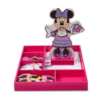 Disney Mickey Mouse & Friends Minnie Mouse Wooden Magnetic Dress-Up Doll by Melissa & Doug