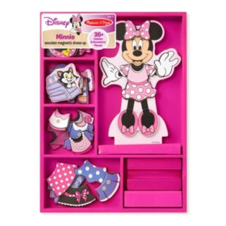 Disney Mickey Mouse and Friends Minnie Mouse Wooden Magnetic Dress-Up Doll by Melissa and Doug