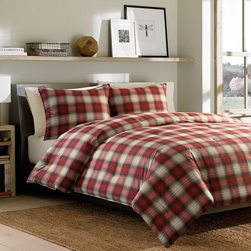 Eddie Bauer Navigation Plaid Reversible Comforter Set
