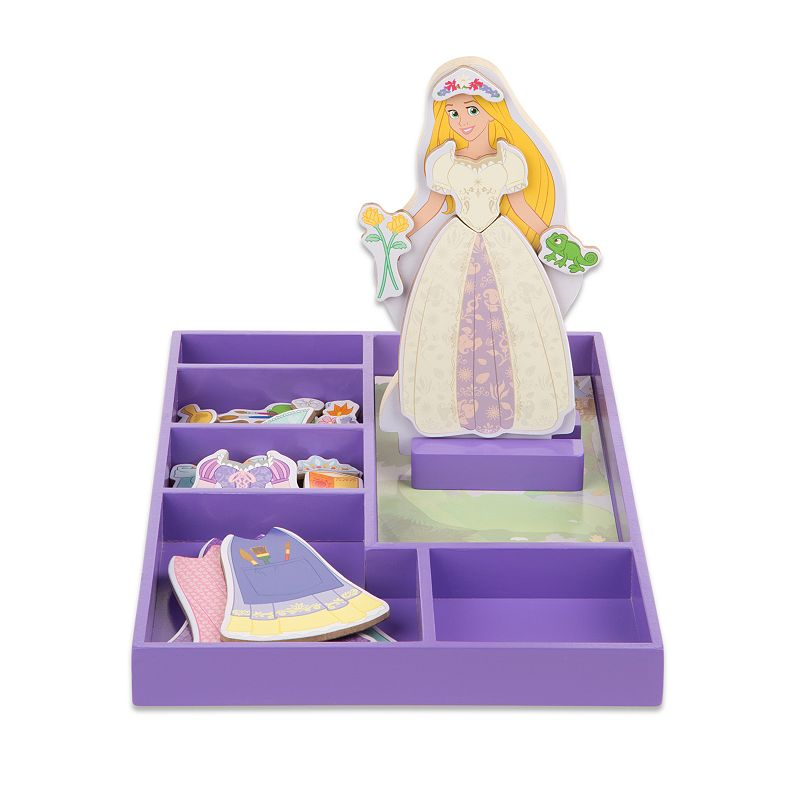 Disney Princess Rapunzel Wooden Magnetic Dress-Up Doll by Melissa and Doug, Multicolor