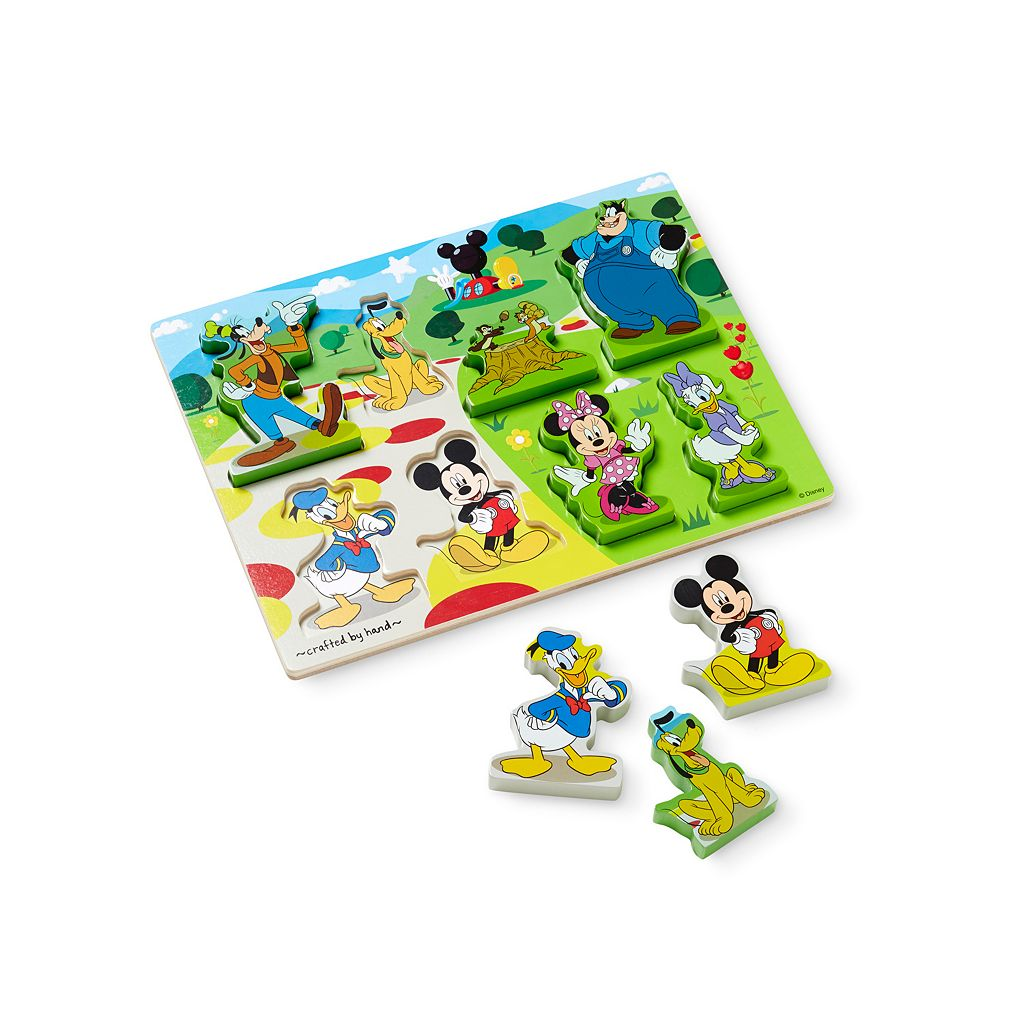 Disney Mickey Mouse Clubhouse Wooden Chunky Puzzle by Melissa & Doug