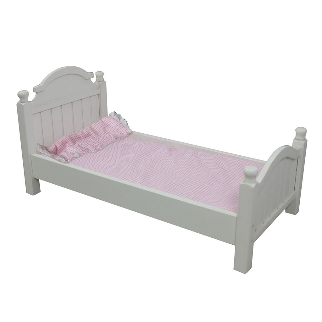 Olivia's Little World Doll Furniture Madison Doll Bed