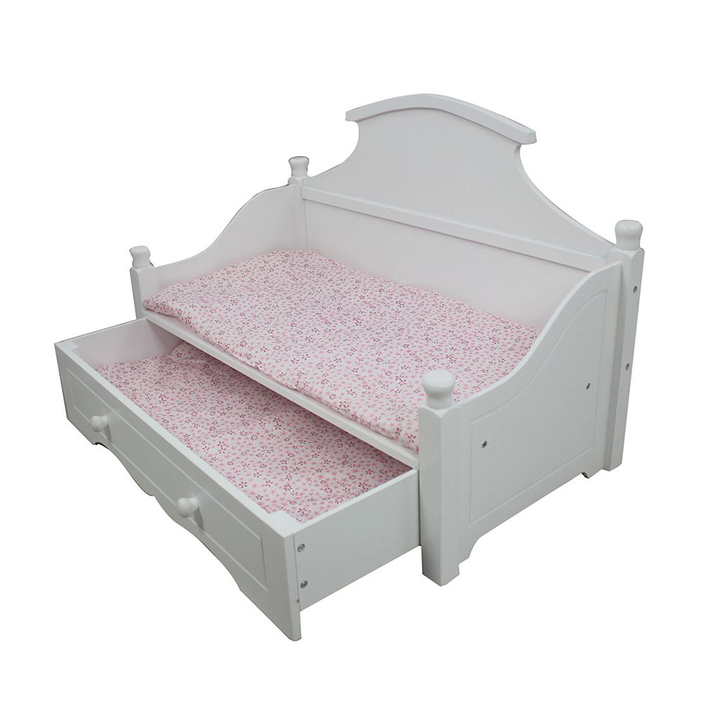 Olivia's Little World Doll Furniture Madison Doll Trundle Bed