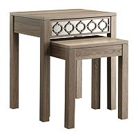 OSP Designs 2-piece Helena Nesting Table Set