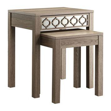 OSP Designs 2-piece Helena Nesting Table Set