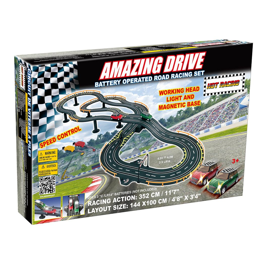 Amazing Drive Mini Cooper Battery Operated Road Racing Set