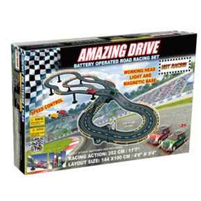 Amazing Drive Mini Cooper Battery Operated Road Racing Set