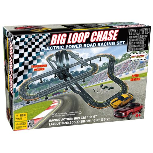 Big Loop Chase Mustang Electric Power Road Racing Set