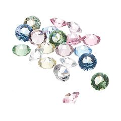 Blue La Rue Crystal Charm Set - Made with Swarovski Crystals