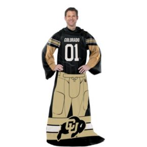 Colorado Buffaloes Uniform Comfy Throw Blanket with Sleeves by Northwest