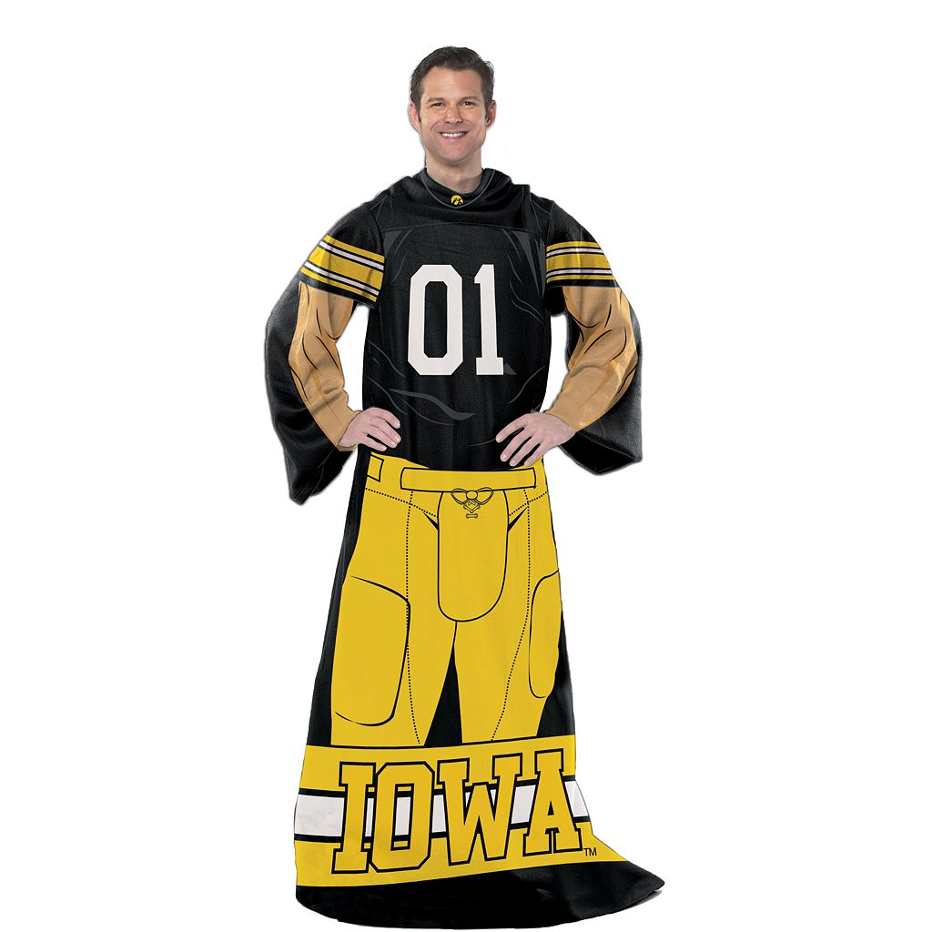 Iowa Hawkeyes Uniform Comfy Throw Blanket with Sleeves by Northwest