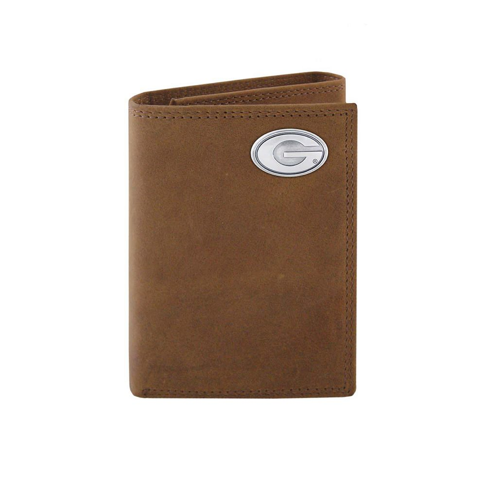 Zep-Pro Georgia Bulldogs Concho Crazy Horse Leather Trifold Wallet