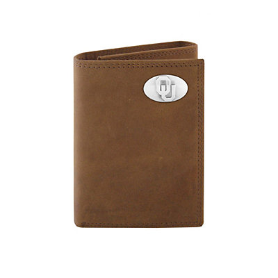 Zep-Pro Oklahoma Sooners Concho Crazy Horse Leather Trifold Wallet