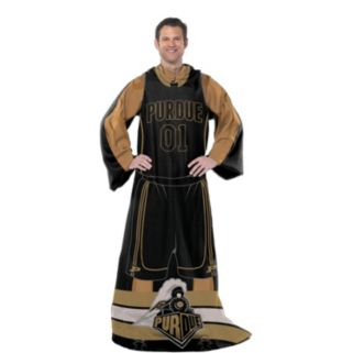 Purdue Boilermakers Uniform Comfy Throw Blanket with Sleeves by Northwest