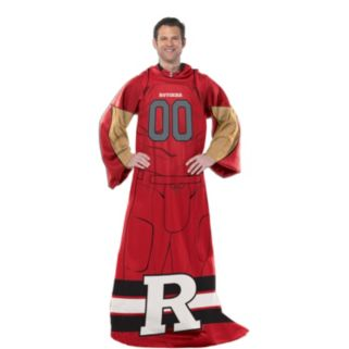 Rutgers Scarlet Knights Uniform Comfy Throw Blanket with Sleeves by Northwest