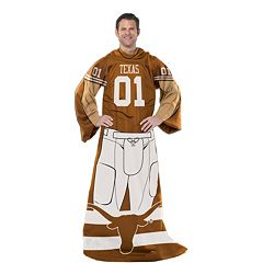 Texas Longhorns Uniform Comfy Throw Blanket with Sleeves by Northwest