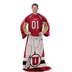 Utah Utes Uniform Comfy Throw Blanket with Sleeves by Northwest