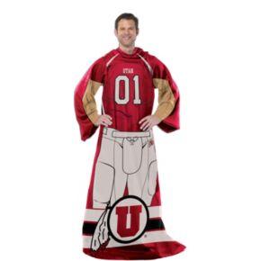 Utah Utes Uniform Comfy Throw Blanket with Sleeves by Northwest