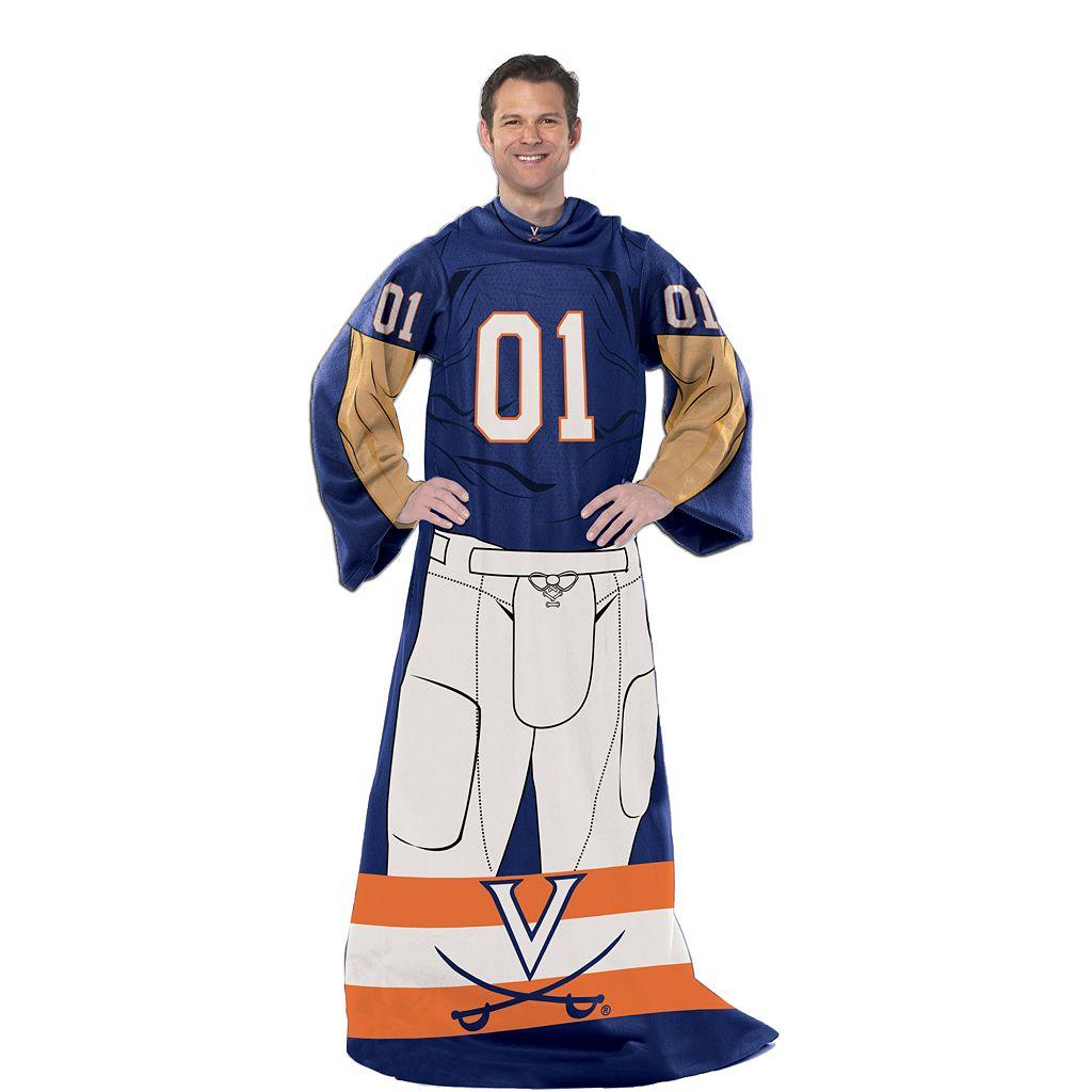 Virginia Cavaliers Uniform Comfy Throw Blanket with Sleeves by Northwest