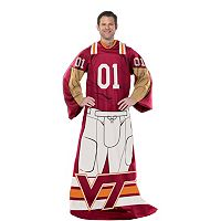 Virginia Tech Hokies Uniform Comfy Throw Blanket with Sleeves by Northwest