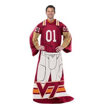 Virginia Tech Hokies Uniform Comfy Throw Blanket with Sleeves by Northwest