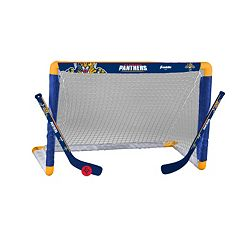 Franklin Sports Florida Panthers Mini Hockey Goal Set
