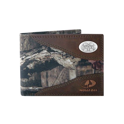 ZEP PRO Mississippi State Bulldogs Crazy Horse Leather bifold Wallet Tin Box