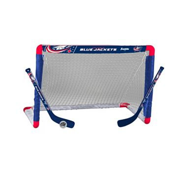Franklin Sports Columbus Blue Jackets Mini Hockey Goal Set