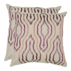 Ikat 2-piece Throw Pillow Set
