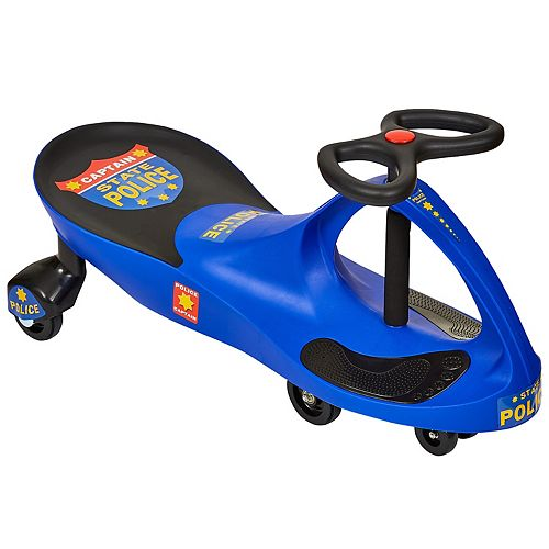 Lil' Rider Chief Justice Police Blue Wiggle Ride-On Car