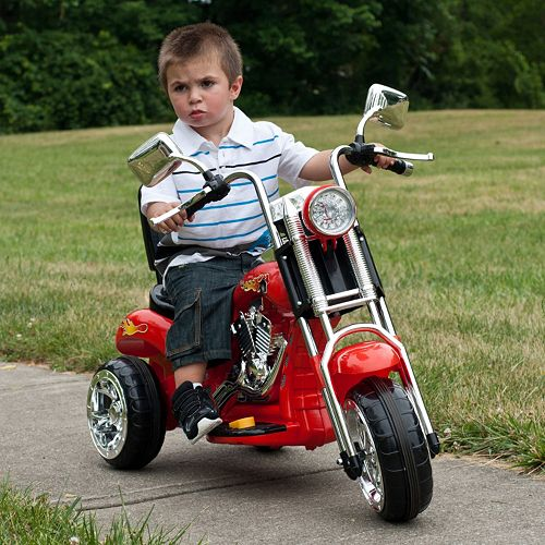 Lil' Rider Red Rocking Three Wheel Ride-On Chopper Motorcycle