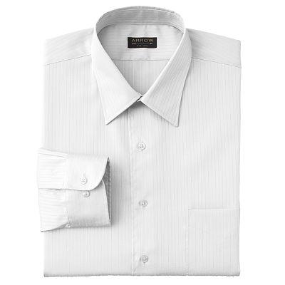 Arrow Satin Twill Solid Point Collar Dress Shirt